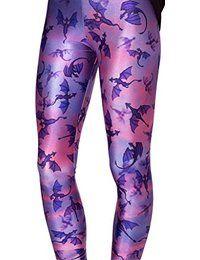 paarse legging met drakenprint