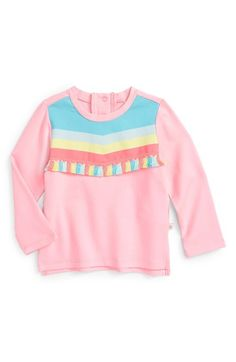 Free shipping and returns on Rosie Pope Tassel Tee (Baby Girls) at Nordstrom.com. '70s-inspired stripes trimmed with playful tassels heighten the throwback vibes of a midweight jersey tee in a bubblegum-pink hue.