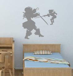 Captain Hook and Peter Pan Wall Sticker