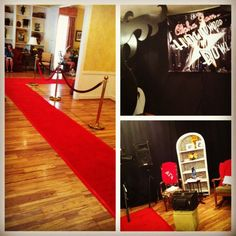 Red rope/red carpet/official theatre looking theme would be so cute