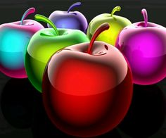 An apple in every color Taste The Rainbow, Over The Rainbow, World Of Color, Color Of Life, All The Colors, Vibrant Colors, Colorful, Arte Fashion, Foto Transfer
