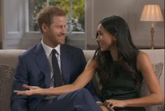 They were unable to contain their laughter and excitement in unseen footage cut from last night's interview with the BBC and it includes jokes about Meghan interrupting her fiance