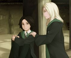 Young Severus and Lucius. Artist unknown