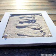 Make Framed Sand Footprints
