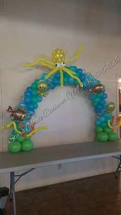 Under the sea table top arch with octopus
