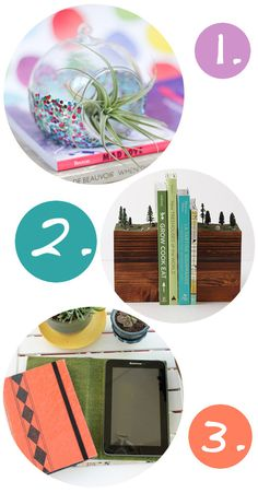 DIY Craft Projects I'm In Love with Lately - DIY Glitter Dipped Air Plant Holder, DIY Diorama Bookends, and DIY Vintage Book Tablet Covers