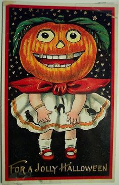 Nothing creepy about this, right? It's a nice little girl pumpkin in a cute dress. With gold teeth. And a murderous smile. Nothing creepy at all.