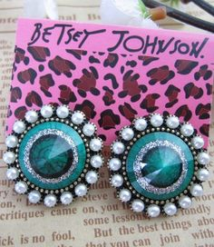 Vintage Beading Green Ring Round Earring - Sheinside.com