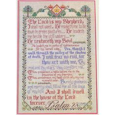 Psalm The Lord is My Shepherd Vintage Cross Stitch Kit Vera M Klein Linen by NeedleLittleTherapy on Etsy Fabric Birds, Blue Fabric, Linen Fabric, Crewel Embroidery Kits, Embroidery Thread, Lord Is My Shepherd, Vintage Cross Stitches, Hallmark Cards, Vintage Stamps