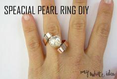 SPECIAL PEARL RING DIY | MY WHITE IDEA DIY