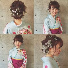 Coming Of Age Day, Hair Arrange, Japanese Outfits, Japan Fashion, Hair Goals, Hair Beauty, Ruffle Blouse, Hair Styles, Instagram Posts