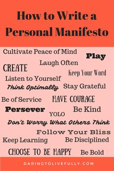 A personal manifesto is a declaration of your core values and beliefs, and how you intend to live your life. Here's how to write a personal manifesto. Journal Prompts, Writing Prompts, Personal Branding, Personal Core Values, Wealth Affirmations, Positive Affirmations, Core Beliefs, Motivation Goals, Self Development