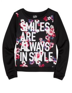 Floral Printed Sweatshirt | Girls Fall Into Boho New Arrivals | Shop Justice