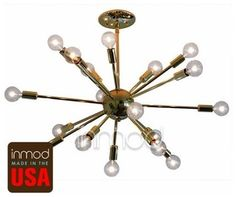 Brass Or Chrome Sputnik Lamp - contemporary - ceiling lighting - by Inmod