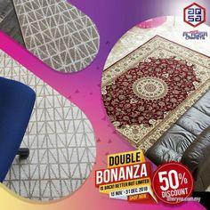 Other for sale, RM230 in Klang, Selangor, Malaysia. DECOR YOUR HOME WITH RUGS - GET 50% DISCOUNT  DOUBLE BONANZA PROMO ON ALFOROSH & ALMASKAN RUG   GET