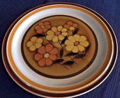 ACSONS GENUINE STONEWARE CHOP PLATE/PLATTER-ALPINE #8517-JAPAN
