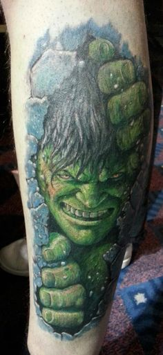 Keeping with the comic theme, here's The Hulk by Eugene @ Ian Ink Tattoo www.ianinktattoo.tumblr.com - please follow :)