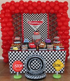 Woah! Don't know if I could do all that! Looks awesome though! Disney Cars Birthday Party