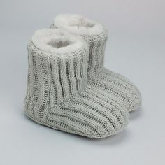Knitted Slipper Boots   The White Company