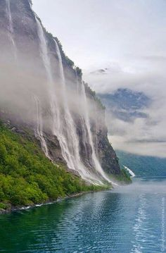 The Seven Sisters Watetfall in Geiranger,Norway