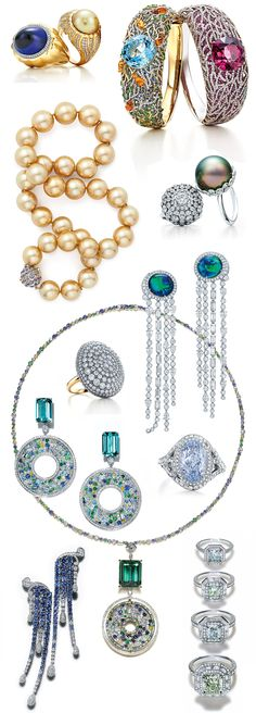 Tiffany&Co Blue Book 2015 jewellery with coloured gemstones