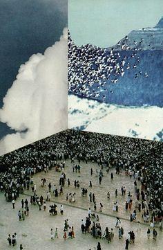 Collage by David Delruelle. Collages, Collage Art, Modern Art, Contemporary Art, Instalation Art, Photocollage, Grafik Design, Oeuvre D'art, Sculpture Art