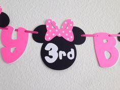 Banner de cumpleaños de Minnie Mouse