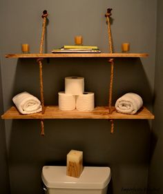 i love this,so simple and yet would give your bathroom such a cool look.