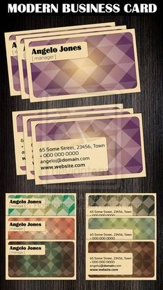 Modern Business Card Template by ~Hotpindesigns on deviantART