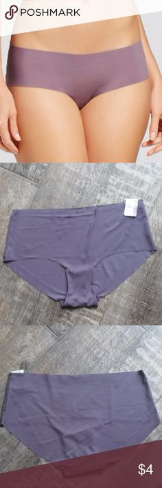 Gilligan & O'Malley No Show Laser Cut Hipster-16 Your sporty sense of style can be seen in your collection of intimates with these purple Laser-cut Hipster underwear. These panties come in a flattering hipster style that hugs your hips for comfortable wear throughout the day. Tag says XL/16  Material: 77.0% Nylon and 23.0% Spandex, machine wash cold. Gilligan & O'Malley Intimates & Sleepwear Panties