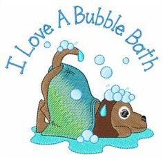 Animals Embroidery Design: Bubble Bath from AnnTheGran