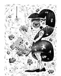 #ink #puzzle #girl #artsy #instaartsy #drawing #sketchbook #illustrator #illustration #iuliaignatillustration #lmrignat #behancereviews #behance #drawingoftheday #artoftheday #characterdesign #blackandwhite #illustagram Behance, Art Day, Ink, Character Design, Darth Vader, Drawings, Illustration, Fictional Characters, Sketches