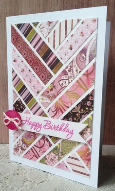 ...to use up scraps. Even children can create a special card using this idea! Very inexpensive to make!