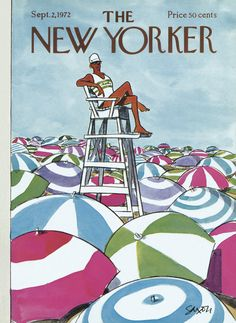 The New Yorker - Saturday, September 2, 1972 - Issue # 2481 - Vol. 48 - N° 28 - Cover by : Charles Saxon