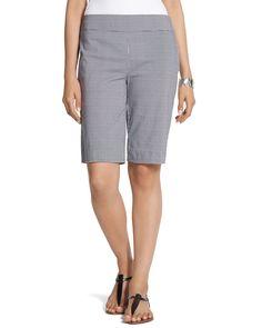 Chico's Women's So Slimming Gingham Shorts