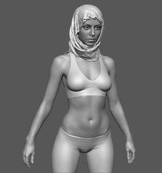 Hijab #4, Eugene Fokin on ArtStation at https://artstation.com/artwork/hijab-4