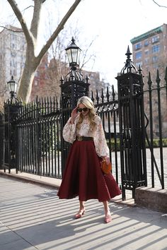 GRAMERCY PARK // FLORAL TOP AND BLUSH FLATS