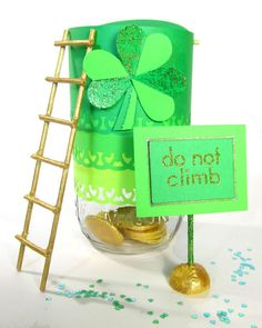 A Bright Idea St. Patrick's Day Crafts | Martha Stewart Living - Gold-hungry leprechauns won't be able to miss Dean Ludington's neon trap inspired by our tutorial.