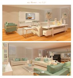 3d Projects, Home Living Room, Vanity, Mirror, Furniture, Home Decor, Sweet Home, Houses, Living Room