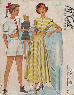 McCall 7218 / Vintage 40s Sewing Pattern / by studioGpatterns
