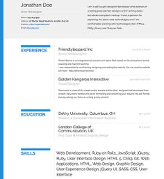 resume template bold free resume template