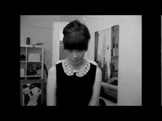 Audrey Hepburn/Jean Shrimpton 60's inspired up-do tutorial for short/lay...