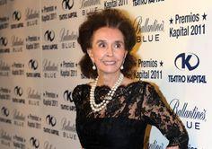 La condesa viuda de Romanones, durante un acto promocional.