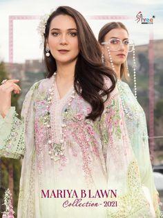 Pakistani Dress Design, Pakistani Dresses, Maria B Lawn, Pakistani Salwar Kameez, Salwar Suits, Eid Collection, Designer Dresses, Girl Fashion, Chiffon