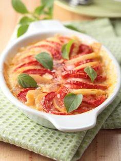 Gratin de pommes de terres aux tomates