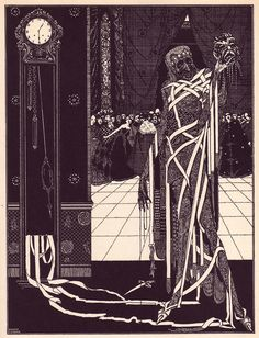 Harry Clarke illustration for Edward Allen Poe's 1919 collection of short stories.