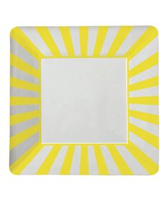 Loving this Yellow Stripe Paper Plate - Set of 16 on #zulily! #zulilyfinds