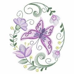 Rippled Butterflies 5 08(Sm) machine embroidery designs