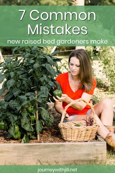 Avoid these mistakes that new raised bed gardeners often make. Whether you're just getting started in gardening or are transitioning to raised beds, avoiding these common mistakes will help you get th Raised Vegetable Gardens, Vegetable Gardening, Flower Gardening, Raised Bed Gardens, Vegetable Garden Layouts, Raised Bed Garden Layout, Making Raised Garden Beds, Plants For Raised Beds, Vegetable Garden Planning