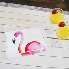 Lucite Tray - Flamingo Lucite Tray, Trays, Plastic Cutting Board, Flamingo, Flamingo Bird, Flamingos, Food Trays, Tray